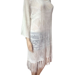 Sexy Bohemian Crochet Hollow-Out Beachwear Dress LAVELIQ - LAVELIQ - 2
