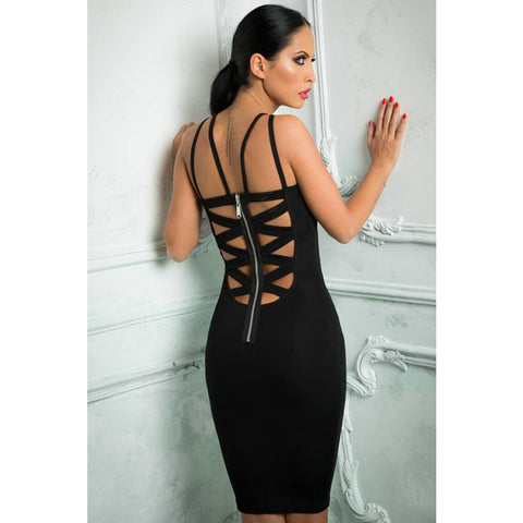 Sexy Cutout Sleeveless Midi Dress LAVELIQ