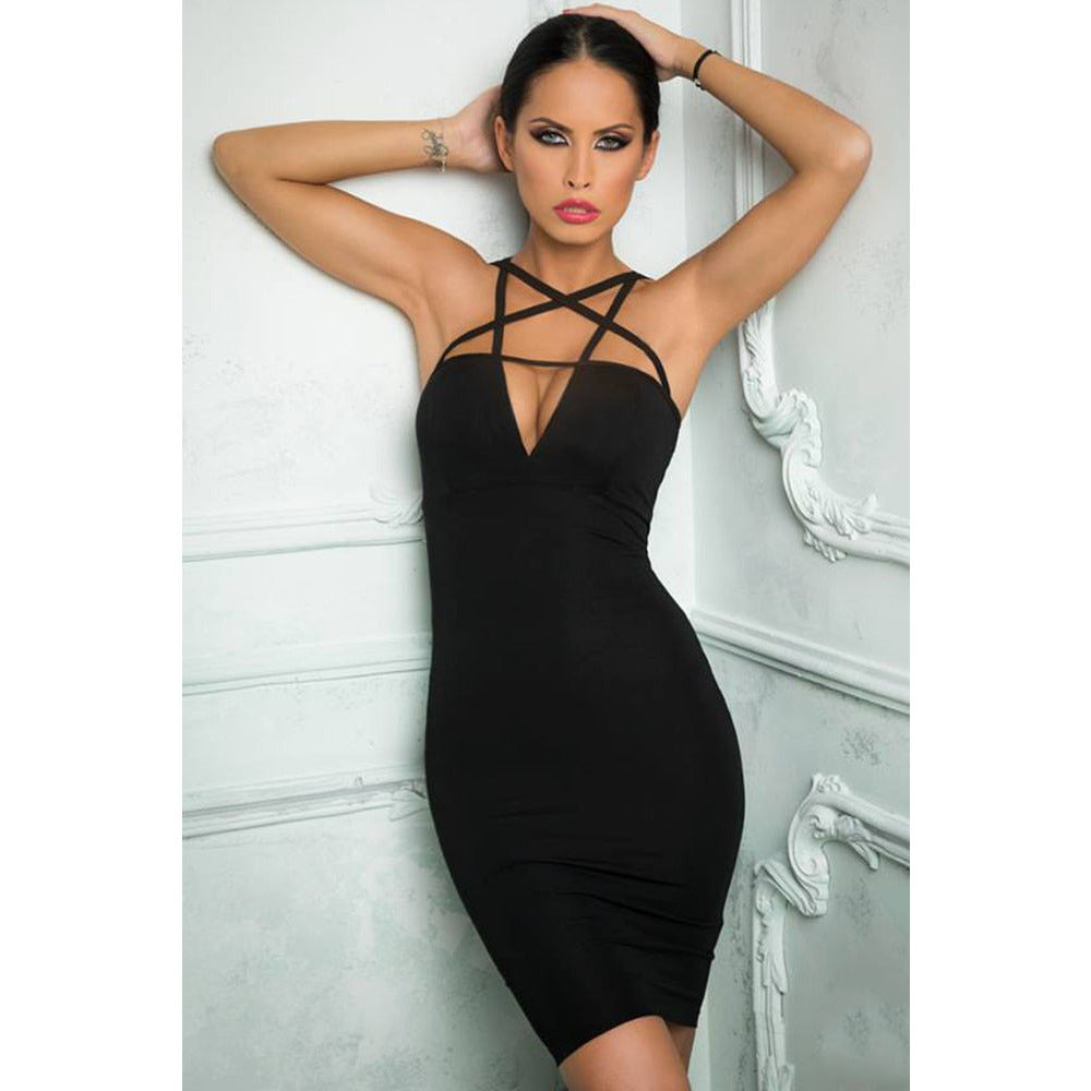 Sexy Cutout Sleeveless Midi Dress LAVELIQ - LAVELIQ - 1