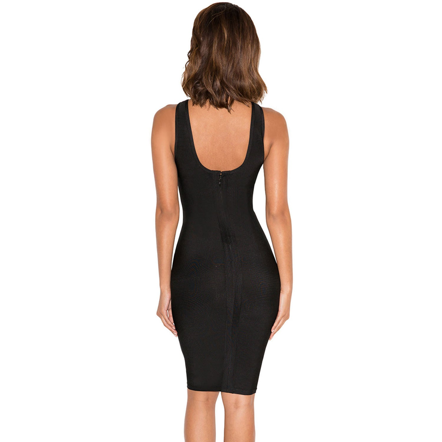 Sexy Deep V Neck Lace Up Bandage Dress LAVELIQ SALE - LAVELIQ - 2