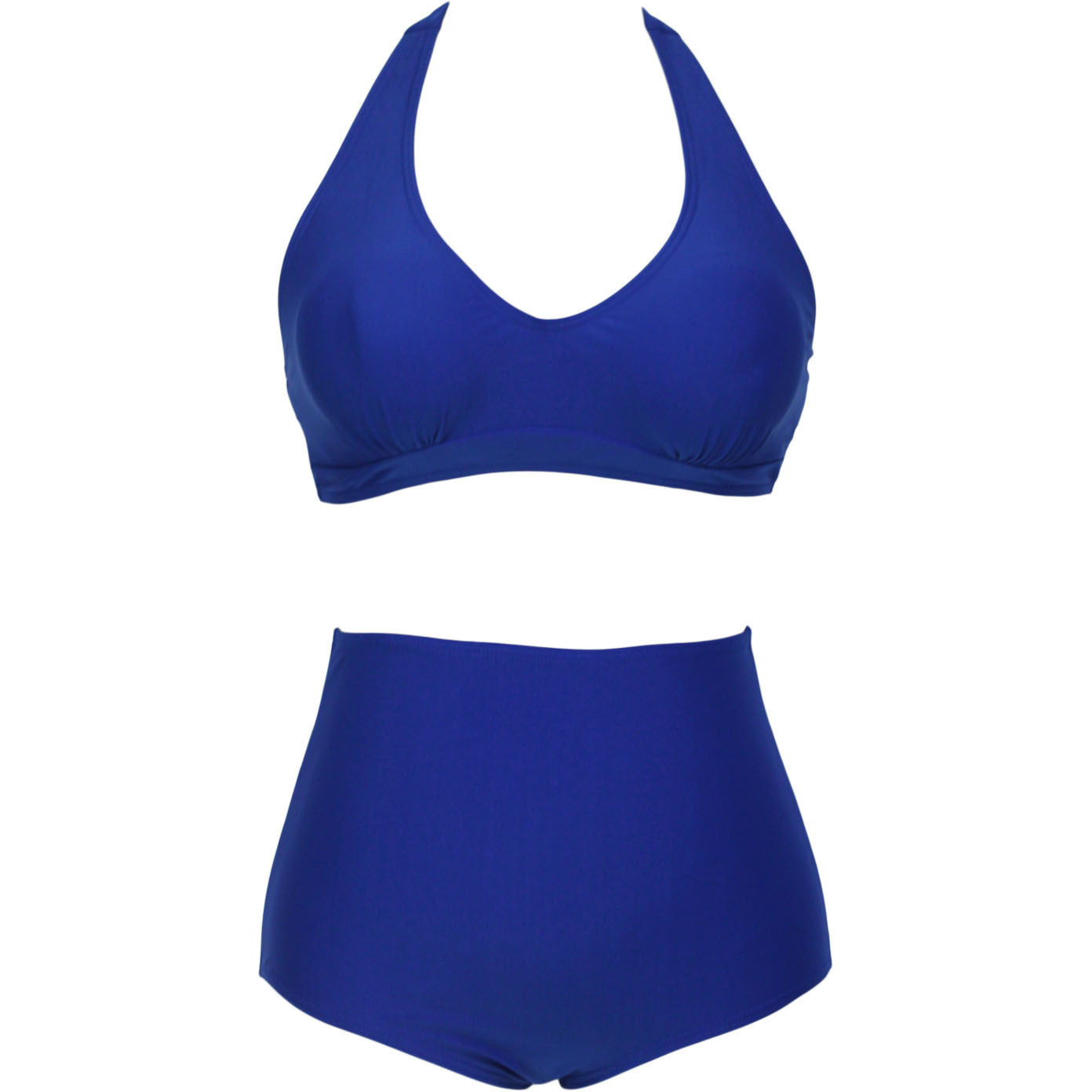 Blue High-Waisted Plus Size Bikini Swimsuit LAVELIQ - LAVELIQ - 2