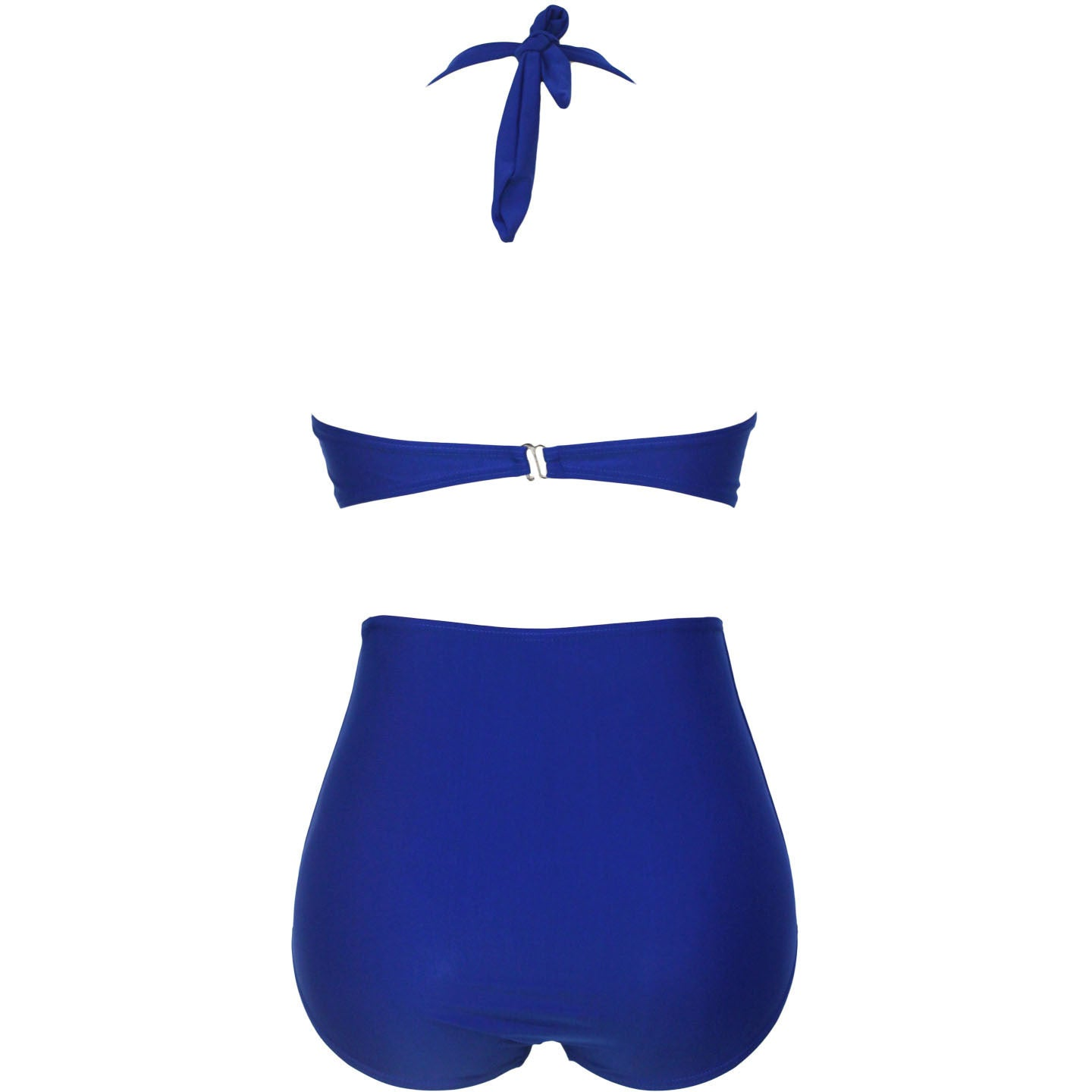 Blue High-Waisted Plus Size Bikini Swimsuit LAVELIQ - LAVELIQ - 3