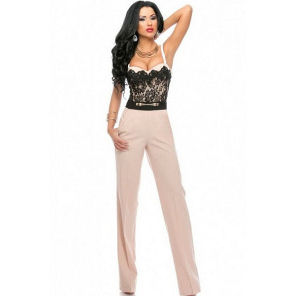 Sweetheart Lace Top Jumpsuit Sale LAVELIQ - LAVELIQ - 1