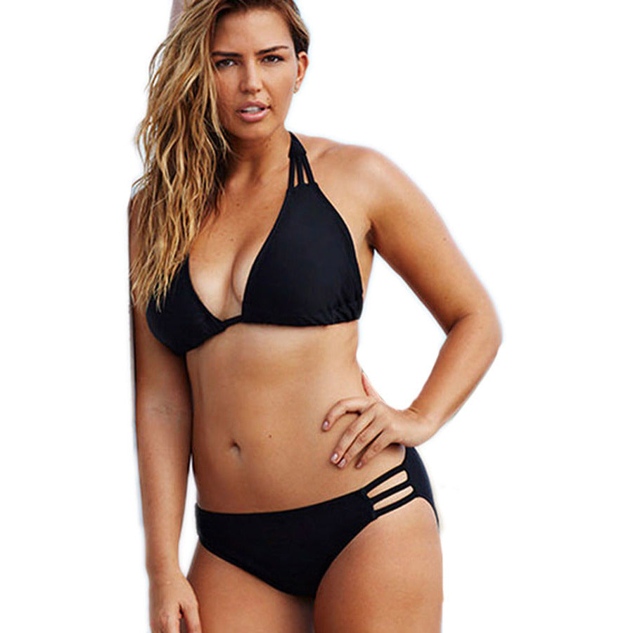 Swim Sexy Black Triangle Plus Size Bikini LAVELIQ - LAVELIQ - 1
