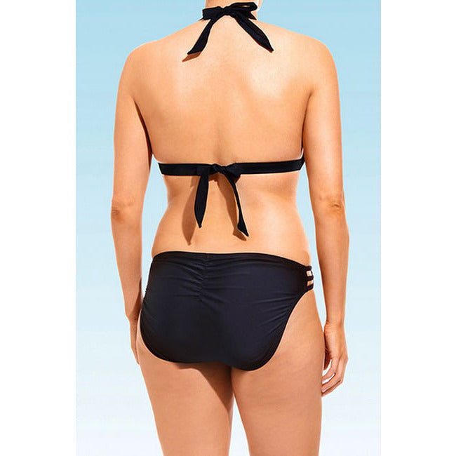 Swim Sexy Black Triangle Plus Size Bikini LAVELIQ - LAVELIQ - 2