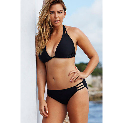 Swim Sexy Black Triangle Plus Size Bikini LAVELIQ
