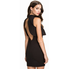 High Neck Little Black Dress Sale LAVELIQ - LAVELIQ - 1