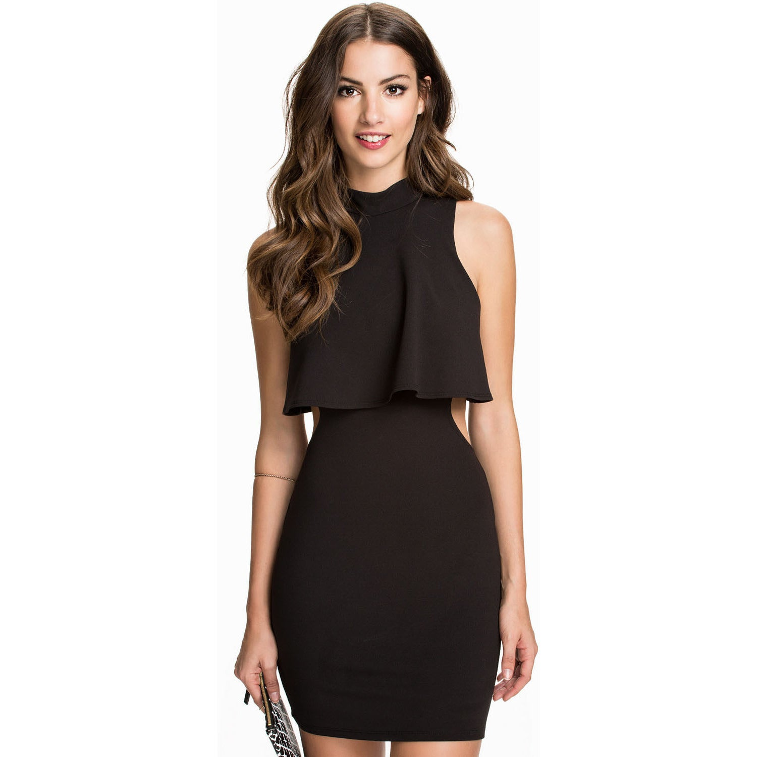 High Neck Little Black Dress Sale LAVELIQ - LAVELIQ - 2