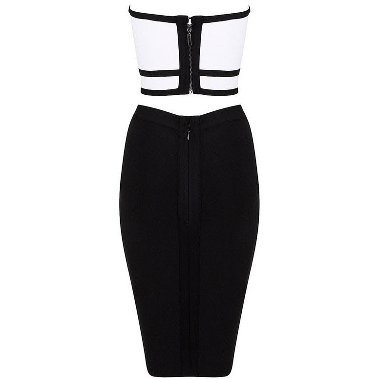 Two-Piece Bustier Skirt Strap Dress LAVELIQ - LAVELIQ - 2
