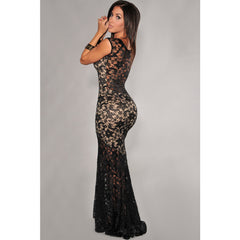 Sexy Lined Long Lace Evening Dress Sale LAVELIQ - LAVELIQ - 1