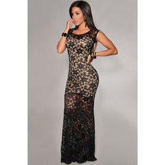 Sexy Lined Long Lace Evening Dress Sale LAVELIQ - LAVELIQ - 3