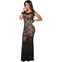 Sexy Lined Long Lace Evening Dress Sale LAVELIQ - LAVELIQ - 4