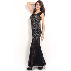 Sexy Lined Long Lace Evening Dress Sale LAVELIQ - LAVELIQ - 6