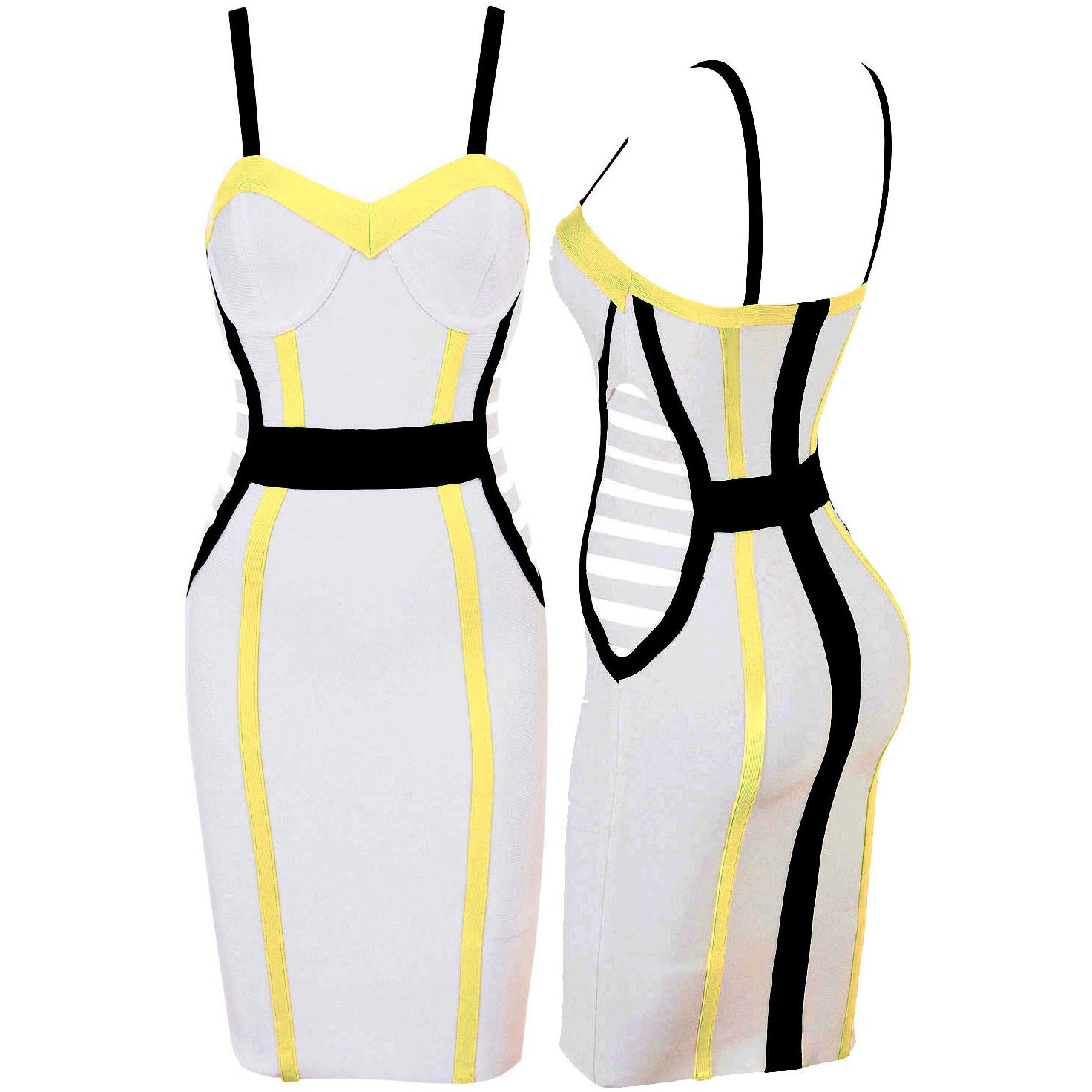 White Sleeveless Top Bandage Dress LAVELIQ SALE - LAVELIQ - 2