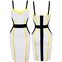 White Sleeveless Top Bandage Dress LAVELIQ SALE - LAVELIQ - 3