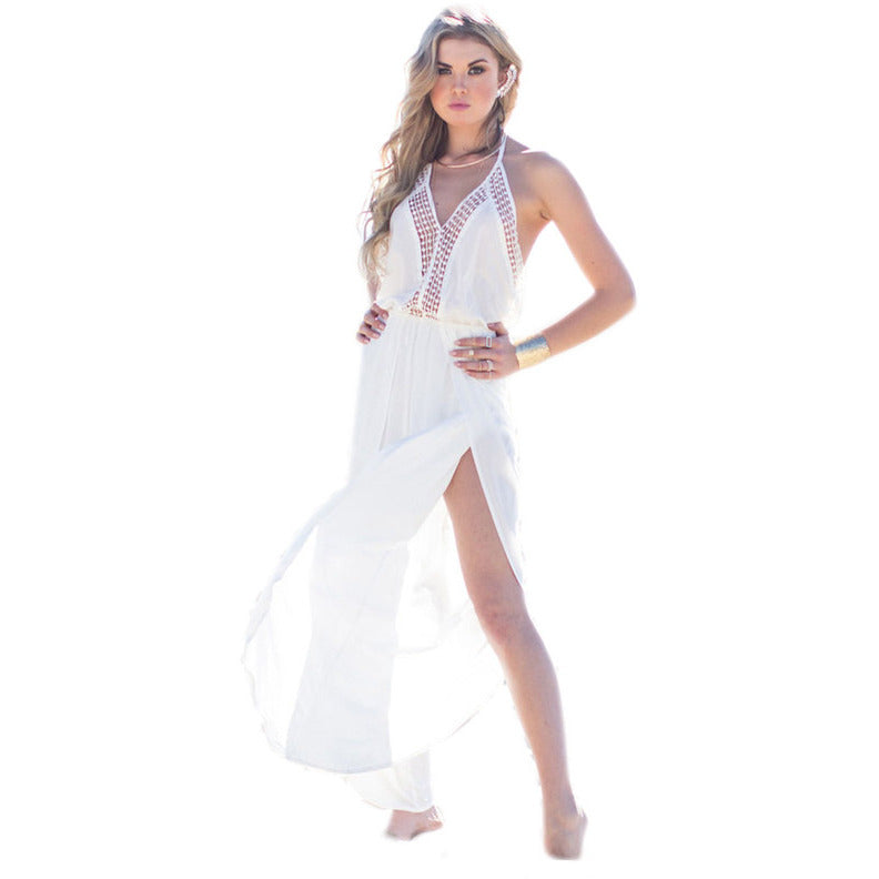 White Elegant Chiffon Beach Dress LAVELIQ - LAVELIQ - 3
