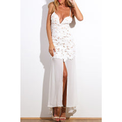 White Flower Maxi Dress LAVELIQ - LAVELIQ - 1