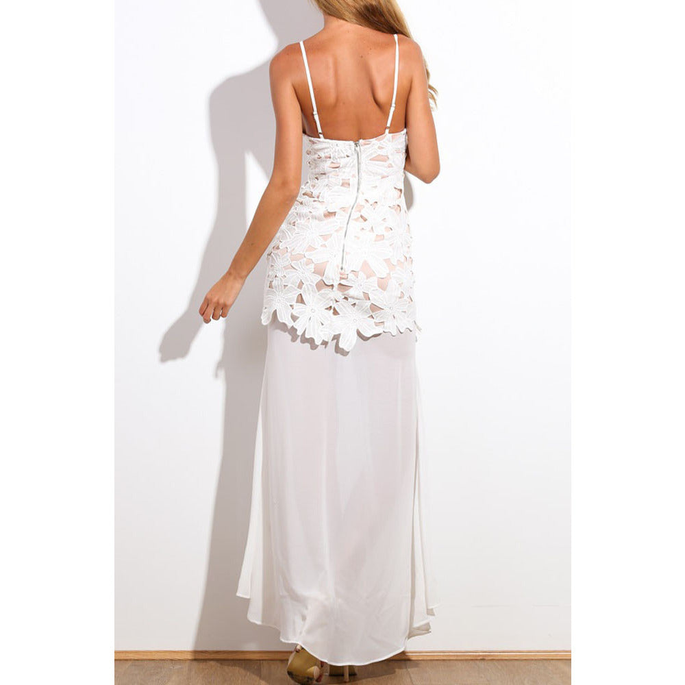 White Flower Maxi Dress LAVELIQ - LAVELIQ - 3