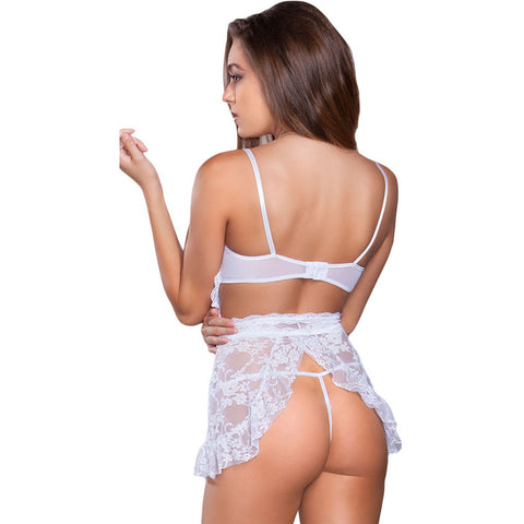White Lace Apron With Thong LAVELIQ