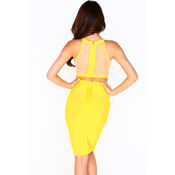 Yellow Strap Two-Piece Skirt Set LAVELIQ - LAVELIQ - 3