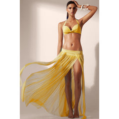 Yellow Elegant  Maxi Skirt Cool Beachwear LAVELIQ - LAVELIQ