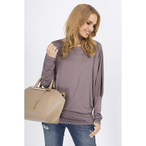 Cappuccino Casual Long Sleeves Blouse LAVELIQ
