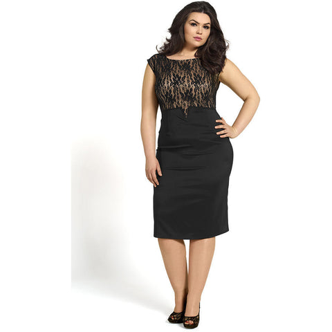 Buff Plus Size Top Evening Dress LAVELIQ