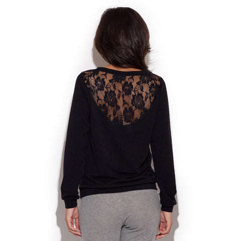 Black Corporate Style Sweater LAVELIQ