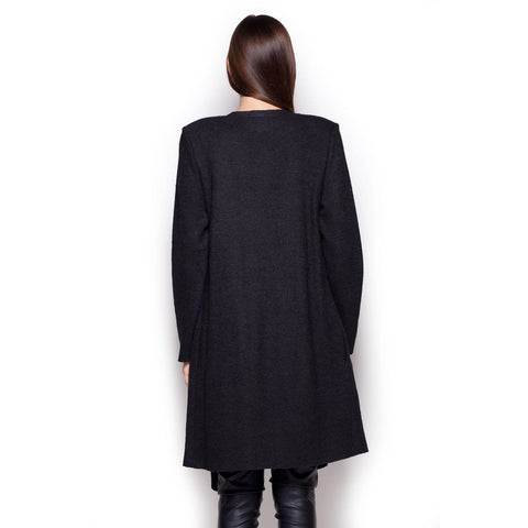 Black Long Cardi Sweater Coat LAVELIQ