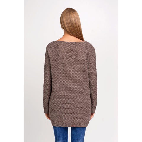 Cappuccino Sweater With Longer Back LAVELIQ