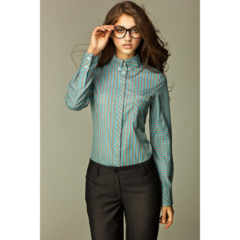 Check Layer Shirt With Button Fastening LAVELIQ