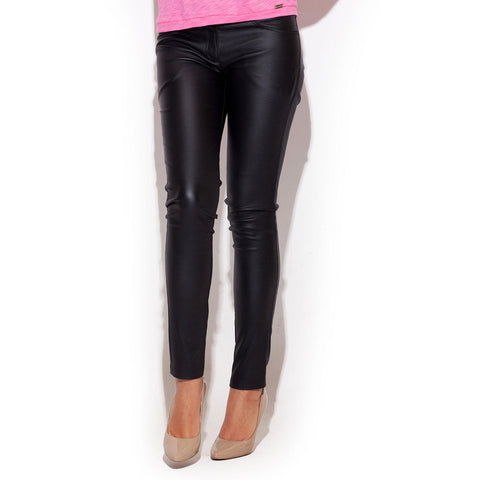 Black Fitted Pant With Double Hip Pockets LAVELIQ