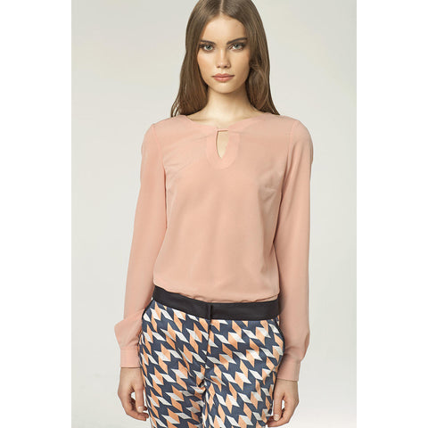 Pink Blouse With Long Sleeves LAVELIQ