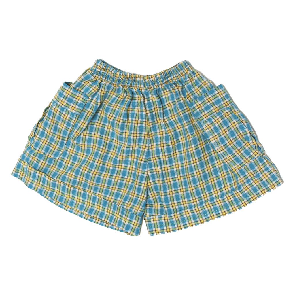 Handmade Gingham Shorts with Pockets, 9–12 Months