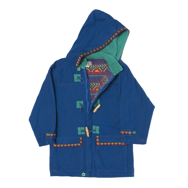 80s Royal Blue & Turquoise Coat, 7 Years