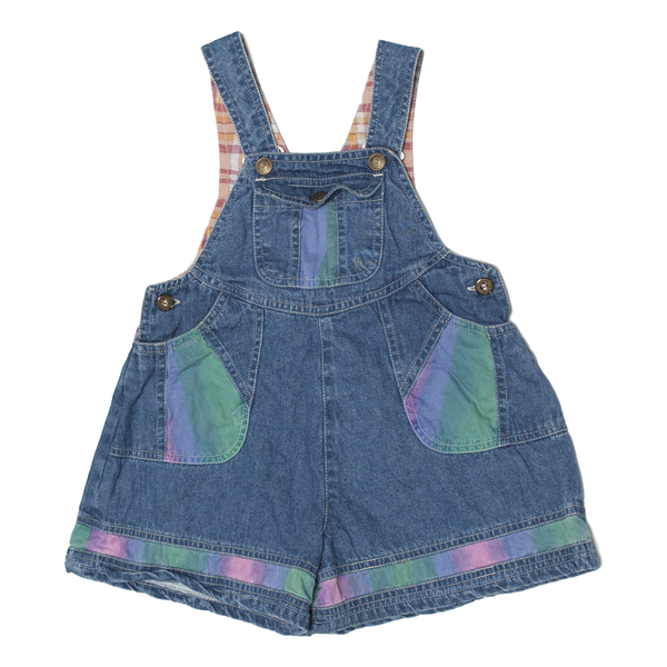 Tie-Dye Patch Denim Short-alls, 4–6 Years