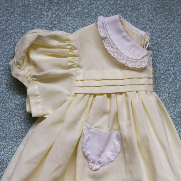 Lemon Yellow Feltman Bros Dress, 3 Months