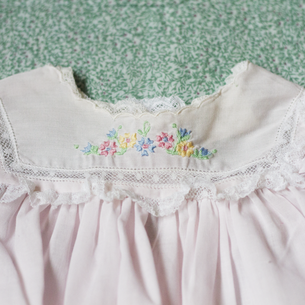 Pale Pink Baby Dress, 3–6 Months