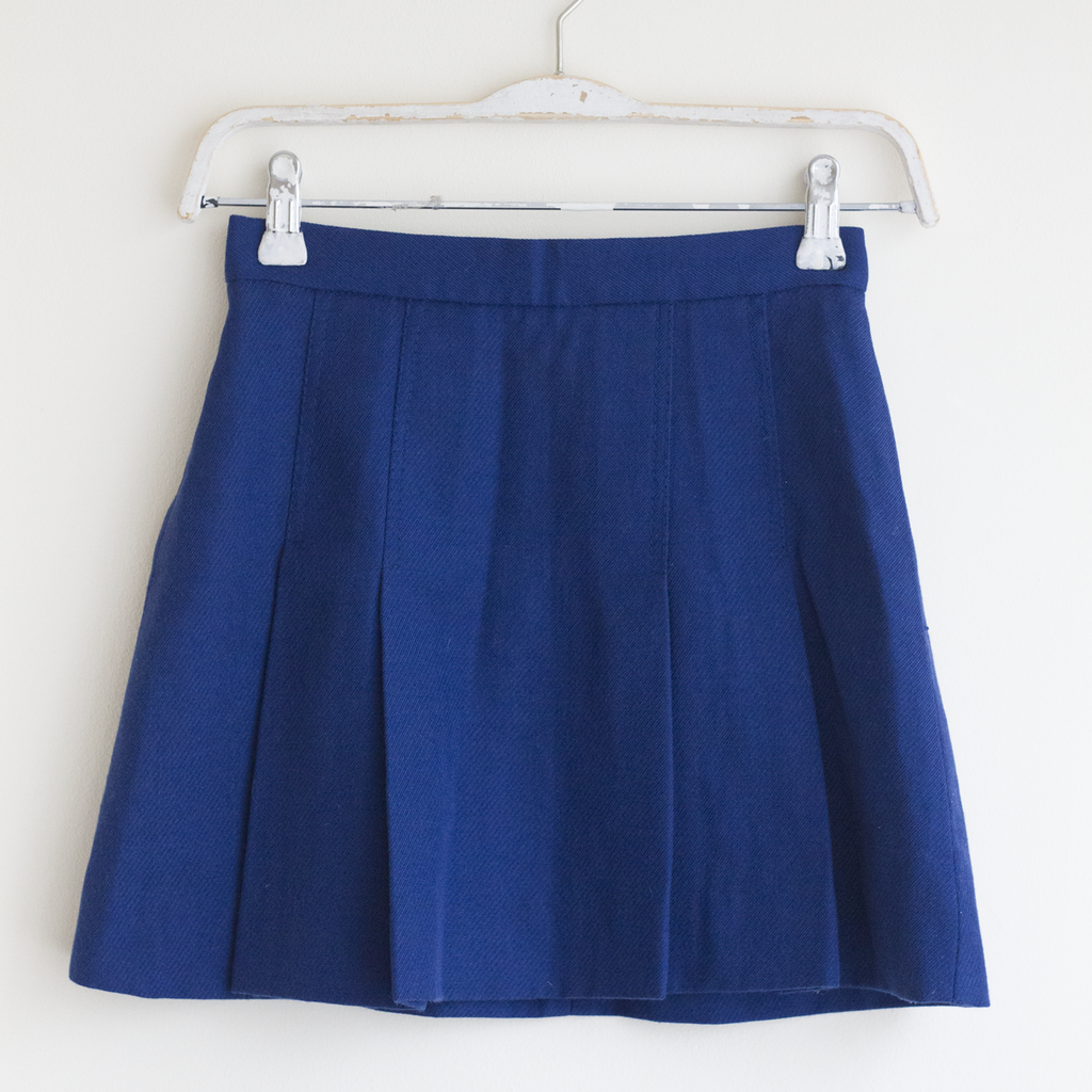 Navy Wool Blend Skirt, 8–10 Years