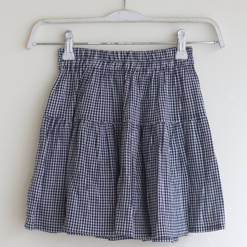 Black Gingham Skirt, 6–8 Years