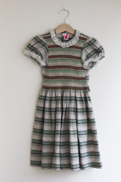 Smocked Green Dress, 2–3 Years