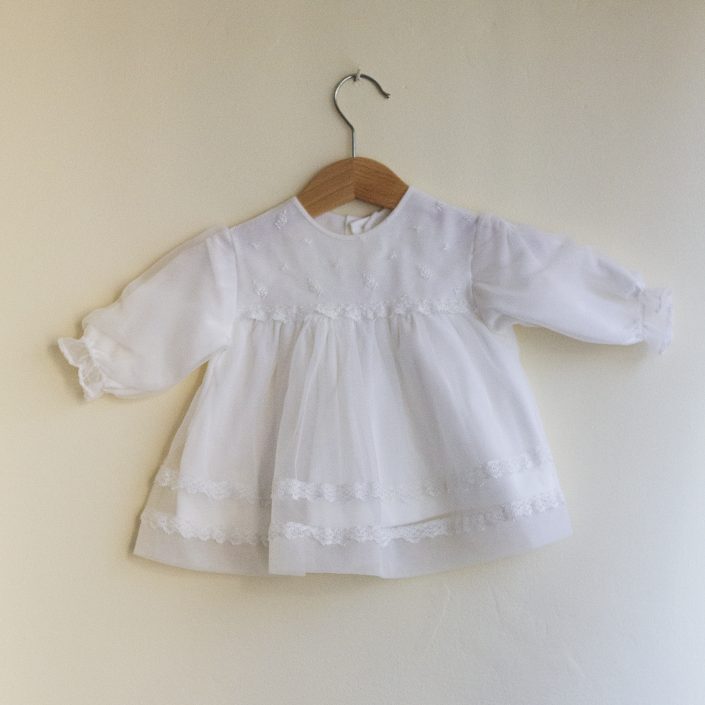 White Baby Dress, 3-6 Months