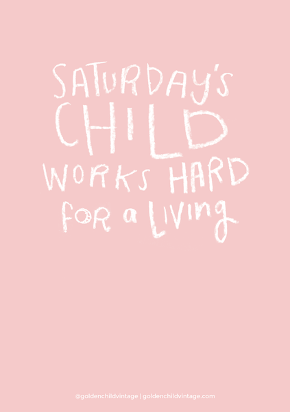Saturdays Child