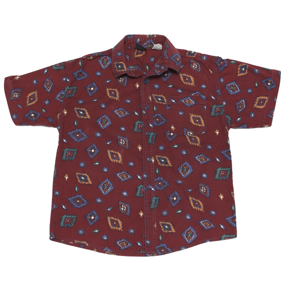 Maroon Patterned Shirt, 10 Years