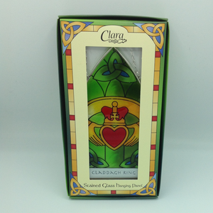 Claddagh Stained Glass Plaque