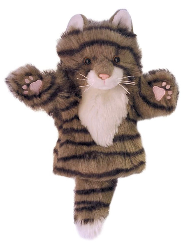 Hand Puppet Grey Tabby