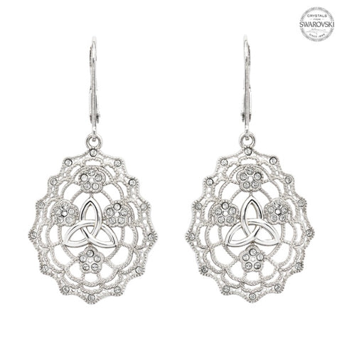 Sterling Silver Trinity Knot Drop Earrings