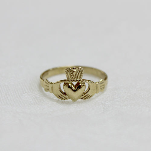 Ladies Gold Claddagh Ring (9ct)