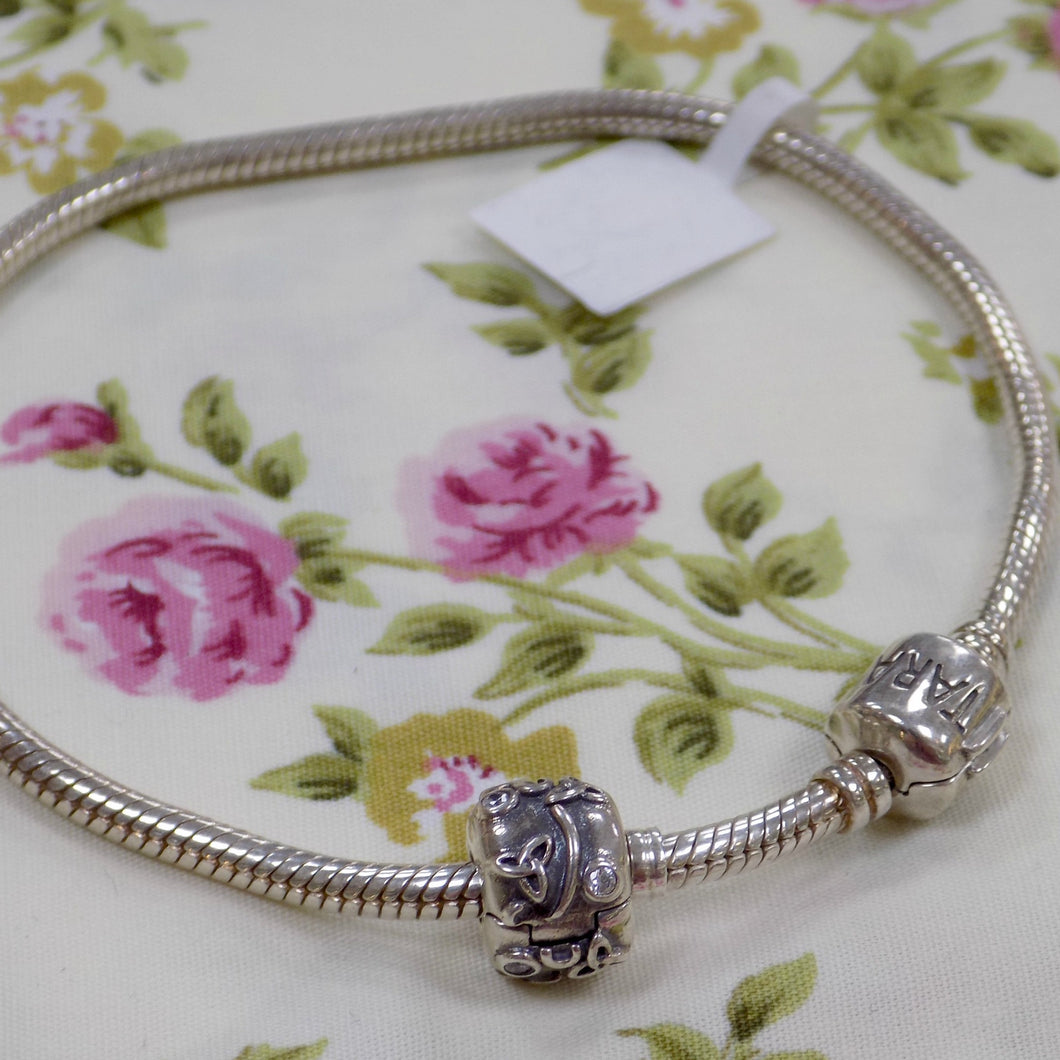 Silver Bracelet for Bead Charms
