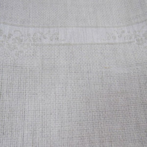 Irish Linen Guest Towel - Rose pattern, Natural